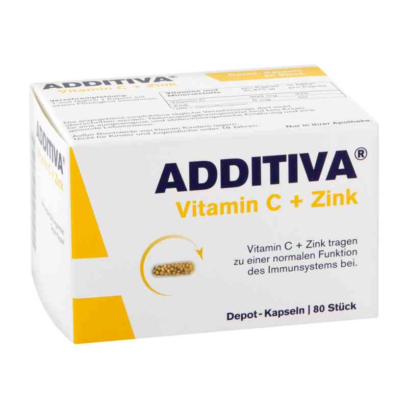 Additiva Vitamin C+zink Depotkaps.aktionspackung (80 stk)