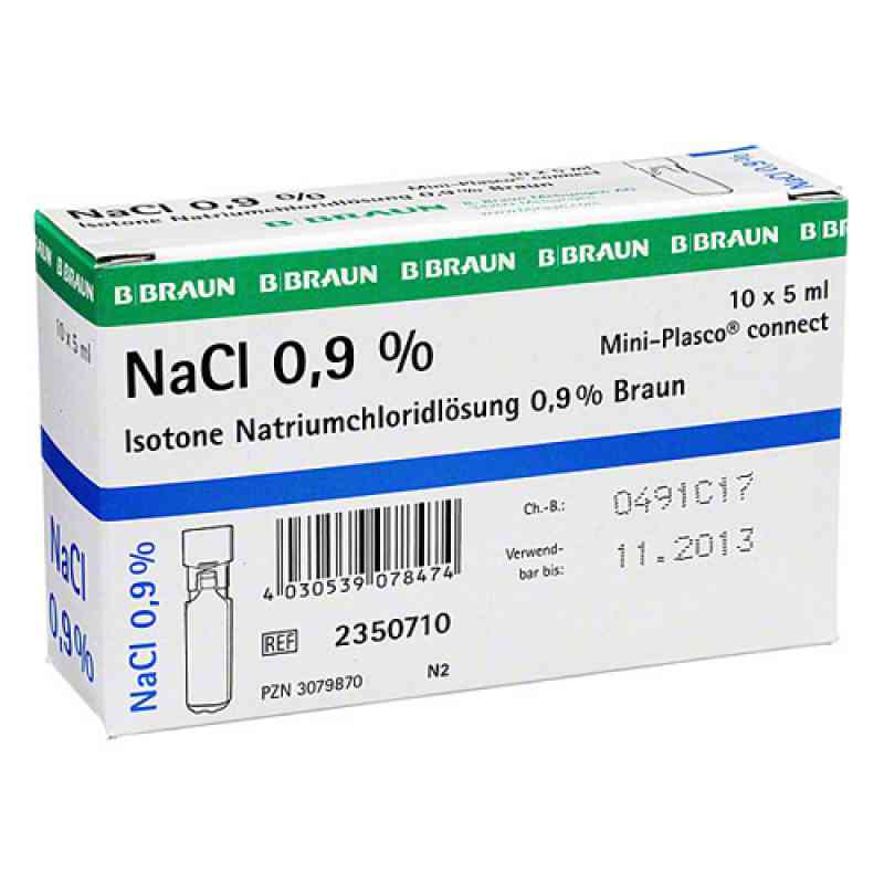 Kochsalzlösung 0,9% Miniplasco connect (10X5 ml)